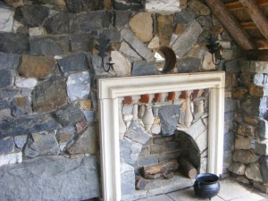 Faerie Cottage fireplace