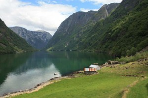 View of Naeroy Fjord from Ramsoy Farm