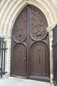 Sanctuary door at Oleviste Church
