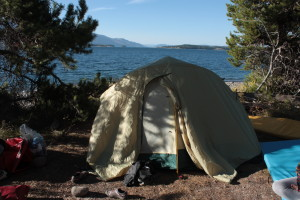 Camping on Spaulding Bay