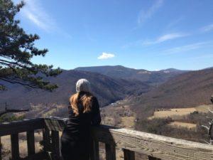 Deborah at Seneca Rocks overlook (2)